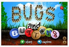 Bugs and Buttons app, a favorite of many OT for working on fine motor and visual motor skills.