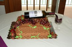 I made this cake for a wine themed bridal shower.
