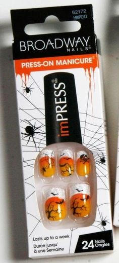 BROADWAY Nails Press-On Manicure imPRESS 62172 DAZZLE ME Halloween Nails