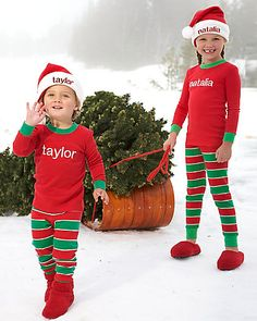 88c56b7fbe personalized holiday stripe pjs - Chasing Fireflies Family Pjs