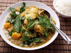 Pressure Cooker Thai Green Chicken Curry With Eggplant and Kabocha Squash Recipe