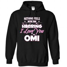 I love you Omi - #birthday gift #day gift. LIMITED AVAILABILITY => https://www.sunfrog.com/Funny/I-love-you-Omi-5357-Black-Hoodie.html?68278