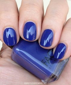 Face Stockholm Cream Crocus - click thru to see the rest of my favorite blue polishes from 2013!