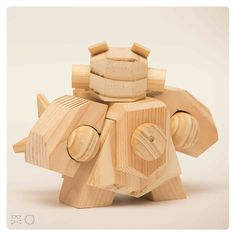 Rolo Ocampos on Behance Making Wooden Toys, Diy Robot, Wood Creations, Vinyl Toys, Toy Trucks, Designer Toys, Toy Soldiers, Wood Toys, Toy Boxes