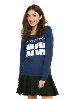 Doctor Who TARDIS Girls Sweater - Hot Topic