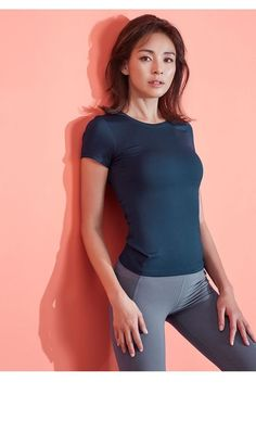 These polyester/spandex leggings are made of a comfortable microfiber yarn, and they'll never lose their stretch. Girl Fashion, Fashion Outfits, Fashion Models, Look Legging, Pin On, Girls In Leggings, Sporty Outfits, Cute Asian Girls, Beautiful Asian Women