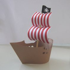 Children's Party Cupcake Wrappers : Pirate Ship Cupcake Wrappers (pack of 12)