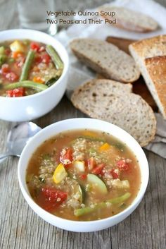 Vegetable Quinoa Soup from www.twopeasandtheirpod.com #vegan #gluten_free #recipe