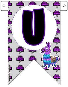 Fortnite Banderines de Cumpleanos para Imprimir Gratis | Todo Candy Bar Disney Printables, Soccer Party, Hello Kitty, Birthday Parties, Birthday Ideas, Lily, Letters, Bar, Amanda
