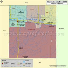 Prowers County Map for free download
