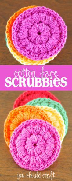 35 Easy Crochet Patterns - Cotton Face Scrubbies - Crochet Patterns For Beginners, Quick And Easy Crochet Patterns, Crochet Ideas To Try, Crochet Ideas To Make And Sell, Easy Crochet Ideas http://diyjoy.com/easy-crochet-patterns