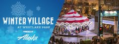 Winter Village and Holiday Carousel at Westlake ParkDowntown Seattle