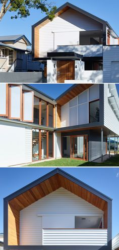 How this modern Scandinavian barn home came to life with clever design features. Modern Farmhouse Exterior, Modern Farmhouse Decor, Weatherboard Exterior, Exterior House Colors, Facade Design, Clever Design, Facade House, Residential Architecture, House Front