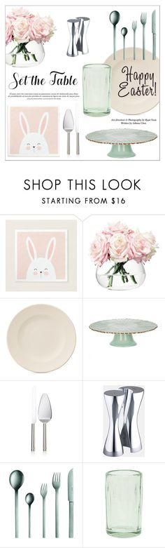 """Hip Hop Home: Bunny Decor"" by alinepinkskirt on Polyvore featuring interior, interiors, interior design, home, home decor, interior decorating, LSA International, Villeroy & Boch, Wedgwood and Nambé"