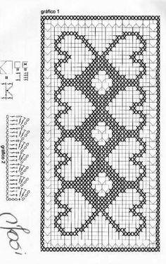 @nika Filet Crochet, Crochet Waffle Stitch, Bobble Crochet, Crochet Motifs, Crochet Cross, Crochet Diagram, Crochet Chart, Crochet Home, Crochet Stitches