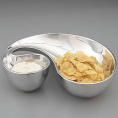 Morphik Chip & Dip Bowl by Nambe