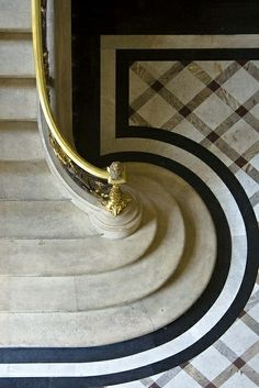 A menswear stone floor! Stripes and plaid.