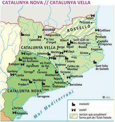 La Corona d'Aragó Spain History, Art History, Map Of Spain, Historical Maps, Ancestry, Planer, Medieval, Infographic, Europe