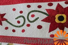 Piece N Quilt: Christmas Row Quilt #christmas #quilt