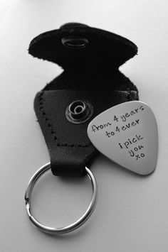 Personalized guitar pick with case - Father's Day - Groomsmen Gift - Groom Gift - Anniversary Gift. $25.00, via Etsy.