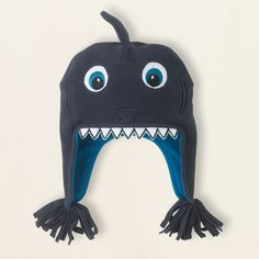 baby boy - accessories - fleece shark hat | Children's Clothing | Kids Clothes | The Children's Place
