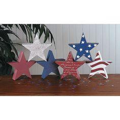 Patriotic Stacking Stars - OrientalTrading.com