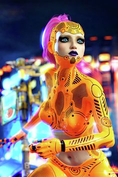 Android girl powered up and ready for action in the cyberpunk neon city. Android Icons, Android App Design, Android Art, Android Watch, Android Tricks, Android Studio, Wallpapers Android, Science Fiction, Character Inspiration