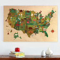 jumbo wooden usa map!