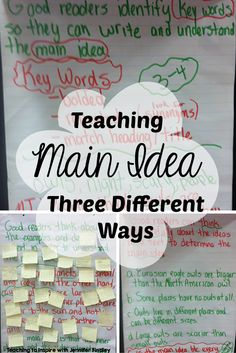 Teaching main idea can be so tricky. Read this post to learn about three differe… Teaching main idea can be so tricky. Read this post to learn about three different ways this fifth grade teacher teaches main idea of informational… Continue Reading → Reading Lessons, Reading Strategies, Reading Skills, Teaching Reading, Reading Comprehension, Guided Reading, Close Reading, Learning, Teaching 6th Grade