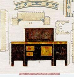 Puppenküche Mit Anziehpuppen UM 1900 Bastelbogen Sammleredition Reprint Selten   eBay