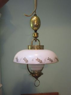vintage mid century modern retractable pull down ceiling light