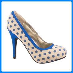 Anne Michelle Pumps TRIXIE L2982 beige-blue 39 - Damen pumps (*Partner-Link)