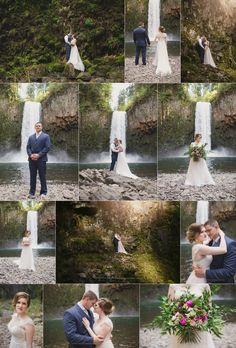 Abiqua Falls Elopement, Oregon Wedding Photographer, Waterfall Photo Session, Shannon Hager Photography