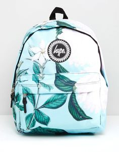 Hype+Exclusive+Leafy+Floral+Backpack