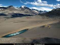The Dry Valleys (Antarctica): Driest place on Earth One interior region of the Antarctic is known as The Dry Valleys. These valleys have not seen rainfall in last many decades. With the exception of one valley, whose lakes are briefly filled with water by inland flowing rivers during the summer, the Dry Valleys contain no moisture (water, ice, or snow). The reasons why the Dry Valleys exist are the 200 mph Katabatic down winds which evaporate all moisture..