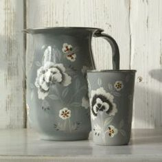 This elegant Fleur floral design is hand painted in Kashmir.br /br /Made from food safe stainless steel.br /Hand wash only.br /br /Fair Trade Item.br /br /Height 19cmbr /Dia 13.5cm