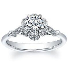 Round Diamond Ring (1.18 ctw) Platinum