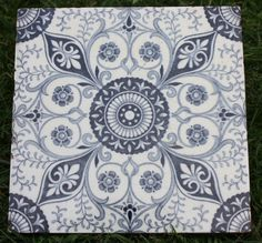 Victorian Blue and White Minton Tile