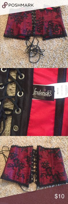 Red and black corset Was only worn once to be tried on, in perfect shape. Frederick's of Hollywood Intimates & Sleepwear Shapewear