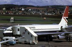 Boeing 707 17715: Boeing 707-436 G-APFN British Airways Prestwick Airport by emdjt42, via Flickr