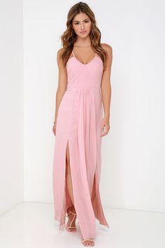 Bariano Dress - Maxi Dress - Blush Pink Gown - $295.00