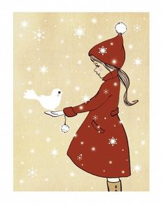 ...as if she was in a snowglobe when suddenly a snow bird...and a brief conversation about two things.