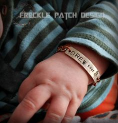 Boys Robot Id Bracelet Made To Order Baby Child Toddler