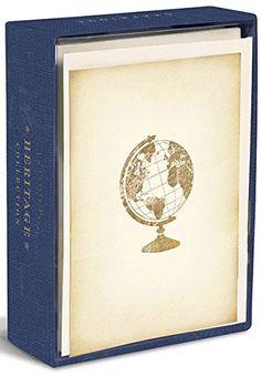 Heritage Globe - Graphique de France Box of 10 Blank Note Cards Graphique de France