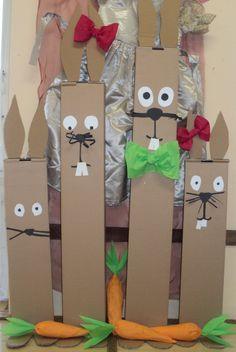 Zajíci z krabic Toddler Valentine Crafts, Valentines Diy, Toddler Crafts, Cute Easter Bunny, Easter Art, Easter Crafts, Projects For Kids, Diy For Kids, Crafts For Kids