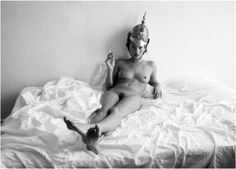Kate Moss - In bed with helmet