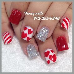 "{Valentine""s Day Nails}"