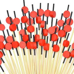 Cocktail Picks 100pcs 4.7 inch for Appetizers Fruit Sticks Wooden Round Food Picks Cocktail Toothpicks Bar Party - Dr... Party Drinks, Cocktails, Starting A Food Truck, Fruit Sticks, Fruit Decorations, Star Food, Hard Pressed, Food Picks, Wooden Stars