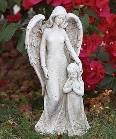 Contempo Angel & Child Garden Statue