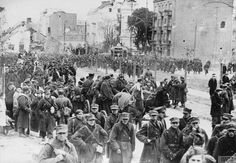 This day in end of the Siege of Warsaw, Polish commanders surrendered to German forces to save the city and civilian lives. Warsaw and it's population suffered heavily during the entire war, about of the city had been destroyed by Invasion Of Poland, Luftwaffe, The Last Remnant, Picture Polish, Rare Images, World War Ii, Wwii, Pictures, Photos